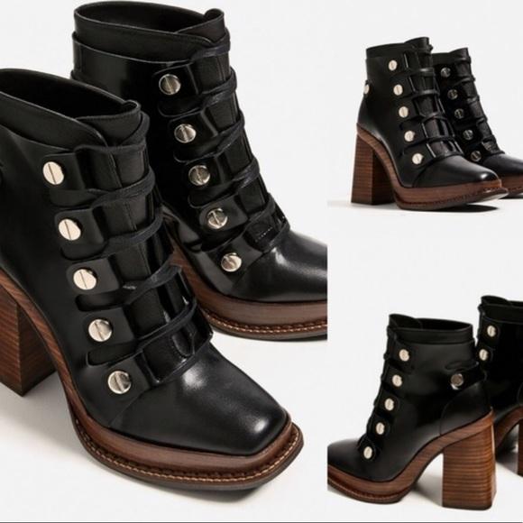 a5531662c98 High heel zara boots.